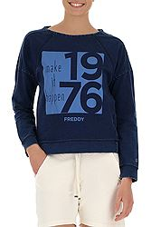 Freddy Denim Effect Sweatshirt With A Tonal Print S8-AC-WS230L01H00
