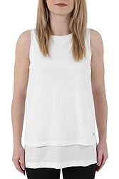 Freddy 2-In-1 Effect Tank Top In Neppy Jersey With Vintage Effect S8-SLO-WTT64N00