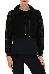 Freddy 2-In-1 Effect Sweatshirt With An Oversize Upper Half In Lace S8-TEB-WT221L01N07