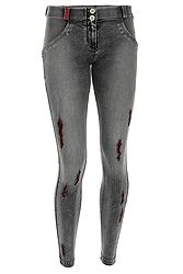 Freddy Wr.Up. Super-Skinny Regular Rise In Distressed Denim WRUP2RF822
