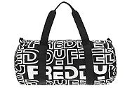 Freddy Packable duffel bag with a reflective  print PACKDBA5