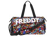 Freddy Duffel bag with hearts BAGW102BR1