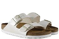 Birkenstock Arizona Shiny Snake Cream 057623