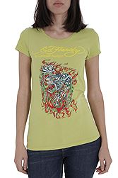 Ed Hardy Flaming Tiger A9WBBQZK-LIME