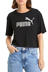 Puma Essentials+ Metallic Cropped Tee 582410