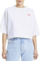 Puma Evide Form Stripe Crop Tee 596298