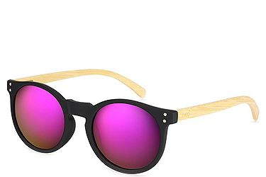 1a2611685a6 Γυαλιά Ηλίου Breo Elmhurst Mirror Sunglasses Black Natural Wood
