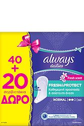 Always Dailies Normal Fresh 40+20τεμ Δώρο 8001090359407