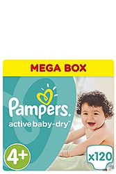 Pampers 120 τεμ No 4+ (9-16 kg) 4015400264972