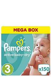 Pampers 150 τεμ No 3 (5-9 kg) 4015400265207