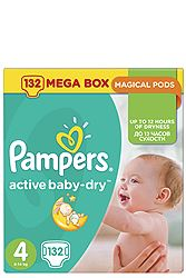 Pampers 132 τεμ No 4 (8-14 kg) 4015400265238