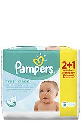 Pampers Fresh Clean 2χ64τεμ + 1x64 Δώρο 4015400622802