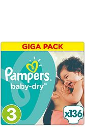 Pampers Midi 136 τεμ Νο 3 (5-9 kg) 4015400833444