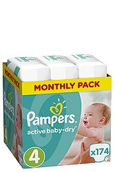 Pampers Monthly Pack 174 τεμ No 4 (8-14 kg) 8001090172556