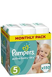 Pampers Monthly Pack 150 τεμ No 5 (11-18 kg) 8001090172594