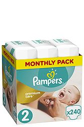 Pampers 240 τεμ Νο 2 (3-6 kg) 8001090379474
