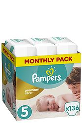 Pampers Monthly Pack 136 τεμ Νο 5 (11-18 kg) 8001090379535