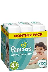 Pampers Monthly Pack 152 τεμ No 4+ (9-16 kg) 8001090448392