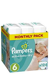 Pampers Monthly Pack 124 τεμ No 5 (11-18 kg) 8001090448422