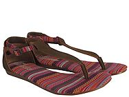Toms Brown Leather Sand Woven Playa 10001359