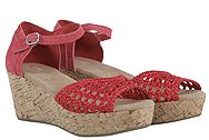 Toms Raspberry Satin Wedge 10004972