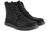 Toms Searcher Boot Black Full Grain Leather 10006538