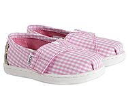 Toms Pink Gingham Classic 10007438