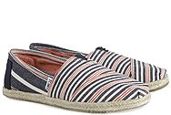 Toms Navy Red Woven Stripe Rope 10008020