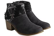 Toms Leila Forged iron Grey Suede Tribal Wool 10008899