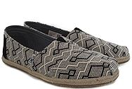 Toms Classic Black Diamond Jacquard Rope Sole 10009698
