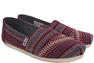 Toms Classic Pomegrante Tribal Woven 10009726