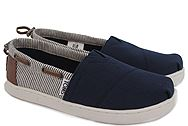 Toms Bimini Navy Canvas Stripes 10010049