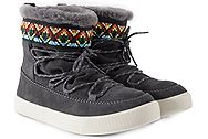 Toms Alpine Forged Iron Grey Waterproof Suede Tribal 10010902