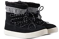 Toms Alpine Black Waterproof Suede Tribal 10010903