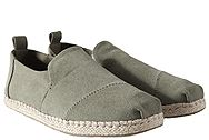Toms Deconstructed Alpargata Rope Olive Washed Canvas 10011624
