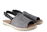 Toms Clara Black Textured Chambray Leather 10011824