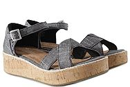 Toms Harper Black Textured Chambray 10011846