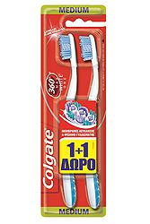 Colgate 360 Max White One Medium 1+1 Δώρο 8714789926568