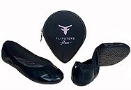 Flipsters Black BALLET FLATS
