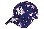 New Era New York Yankees Floral Blue Womens 9FORTY Cap 60112729