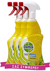 Dettol Πολυκ/κό Spray Power&Fresh Lemon 3x500ml 5201347168414-3