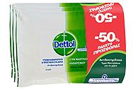 Dettol Υγρά Απολυμαντικά Μαντηλάκια Value Pack (3 x15 τεμ - 50%) 5201347159610