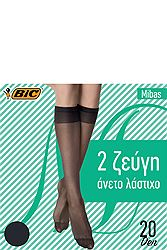 Bic Mibas Mousse 20Den Γραφίτης One Size (2 ζεύγη) 5201313006580