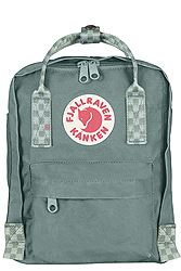 Fjallraven Kanken Mini Frost Green-Chess Pattern 23561-664-904