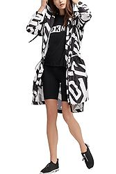 DKNY Longline Hooded With Jumbo Logo Print DP9J8496