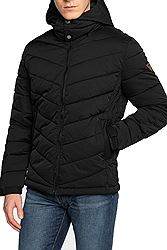 Guess Strech Puffa Hooded Mechanical Stretch Poly M0BL50WD990